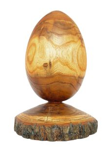 Free Wooden Egg Made From Acacia Tree With Bark Stock Images - 31405394