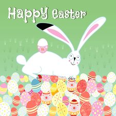Free Easter Card With Rabbit Stock Photography - 31407082