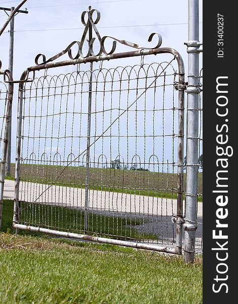 Old Metal Country Gate