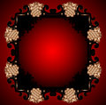 Free Red Vintage Frame Design For Greeting Card. Eps10. Stock Photography - 31413492