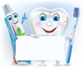 Free Funny Tooth, Tooth Paste And Tooth Brush With Blan Royalty Free Stock Photography - 31417567
