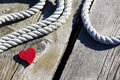 Free Red Heart Jetty Stock Image - 31418901