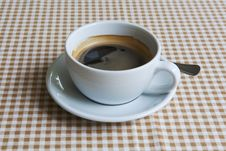Free Cup Of Black Coffee On Table Stock Image - 31411581