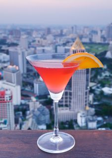 Free Red Cocktail And Slide Of Orange Royalty Free Stock Photography - 31414507