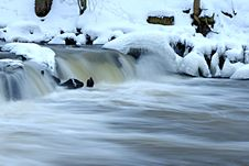 Free Falls In The Winter. Stock Images - 31414934