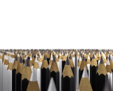 Crowd Of Pencils Stock Photography