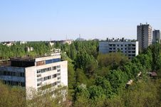 Free Pripyat City And Chernobyl Nuclear Power Plant View Royalty Free Stock Image - 31417236