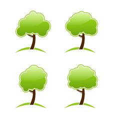 Free Abstract Green Various Icons Trees Royalty Free Stock Photography - 31418347