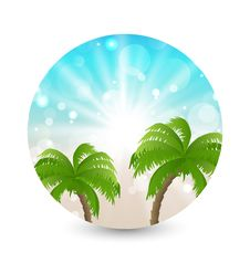 Free Summer Holiday Picture With Sunlight And Palm Leav Royalty Free Stock Photos - 31418348