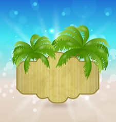 Free Wooden Signboard On The Seashore Royalty Free Stock Image - 31418386