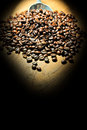 Free Coffee Beans With Lighting Royalty Free Stock Image - 31421136