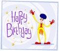 Free Afro Clown Birthday Greeting Stock Image - 31421311