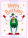 Free Fat Clown Birthday Greeting Royalty Free Stock Images - 31421329