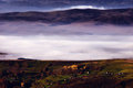 Free Scenery - Morning Mist On The Mountain Village Royalty Free Stock Images - 31427549