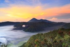 Free Bromo Mountain In Tengger Semeru National Park At Sunrise Royalty Free Stock Photo - 31423785