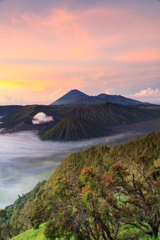 Free Bromo Mountain In Tengger Semeru National Park At Sunrise Stock Photos - 31424163
