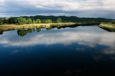 Play Of Light And Shadow On A Beautiful River Land Royalty Free Stock Image