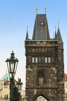 Old Town Bridge Tower In Prague Stock Photos