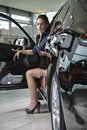 Free Woman Driver With Her New Car Royalty Free Stock Image - 31445466