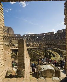 Free Panorama Of Colosseum On A Spring Day Royalty Free Stock Photos - 31442218