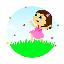 Free The Girl In The Meadow Stock Photography - 31446372