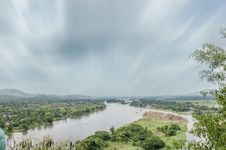 Free Landscape From Hill Beside River, Moving Cloud, Trees Stock Image - 31449311