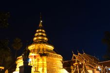 Free Phra That Sri Jom Thong Before Sunrise, Series 1_2, Golden Pagoda Stock Photography - 31450452