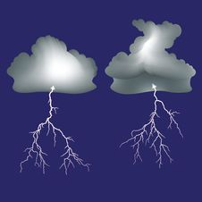 Free Isolated Lightning And Dark Clouds Stock Image - 31450991