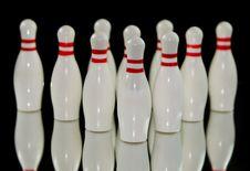 Free Ten Bowling Pins Stock Photos - 31451533