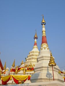 White Double Pagoda Royalty Free Stock Photo