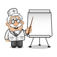 Free Doktror Points On A Flip Chart Stock Photography - 31453332