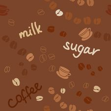 Free Background With Coffee Grains And The Words Stock Photography - 31454672