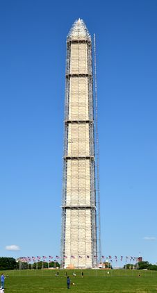 Free The Washington Monument Under Reconstruction. Royalty Free Stock Image - 31457926