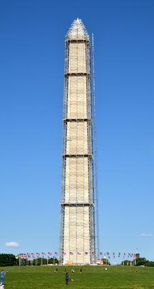 Free The Washington Monument Under Reconstruction. Royalty Free Stock Image - 31457926