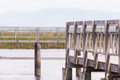 Free Wooden Fences On Path Way Swamp Field Royalty Free Stock Image - 31466276