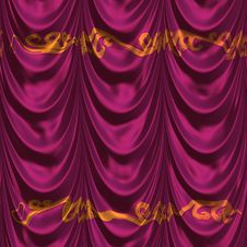 Decorative Pink Fabric Royalty Free Stock Photos