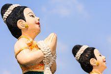 Free Thai Ladies  Sculpture Royalty Free Stock Image - 31462526