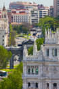 Free Aerial View Of Madrid  / Famous Alcala Gate, Builldings And Stre Stock Photography - 31471542