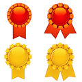 Free Four Bright Rosettes Royalty Free Stock Photography - 31475477