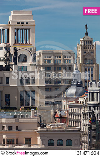 Free Madrid / Spain / Historic Buildings In The Center Of The City Stock Images - 31471604