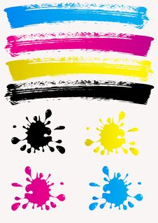 Free Colored Spots. CMYK Royalty Free Stock Photos - 31472078