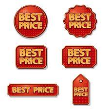Best Price Labels Set Stock Photo