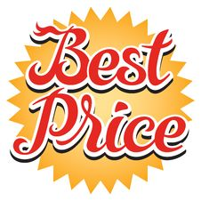 Free Best Price Sticker Royalty Free Stock Photo - 31473065