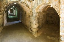 Free Underground Galleries In The Roman Theater In Sagunto, Valencia, Spain Stock Photos - 31474153