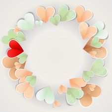 Free Frame Of Paper Hearts Royalty Free Stock Photo - 31475455