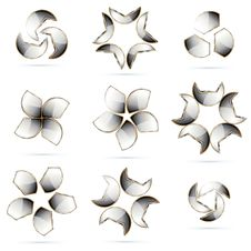 Set Of Metallic Symbols Stock Images