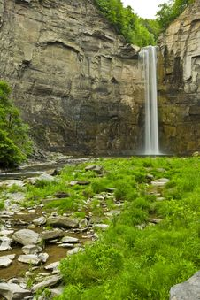 Waterfall And Gorge Royalty Free Stock Images