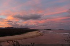Free Boambee Creek And Beach At Sunset Stock Images - 31477564