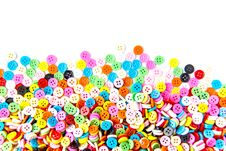 Free Colorful Buttons,  Colorful  Clasper On White Background Royalty Free Stock Images - 31478409