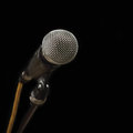 Free Grey Iron Microphone On Black Background Stock Photo - 31480590